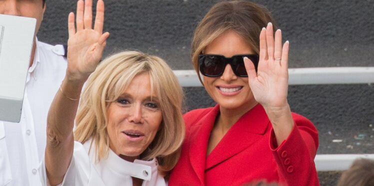 Photos - Brigitte Macron et Melania Trump rivalisent d'élégance pour leurs retrouvailles