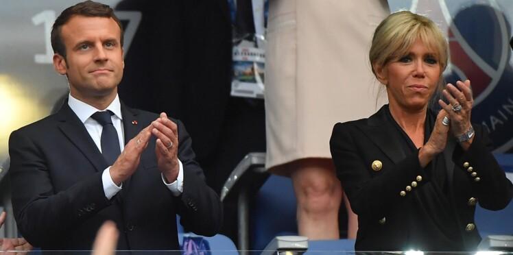 Brigitte Macron : impeccable en total look noir et cheveux tirés pour assister à un match de foot