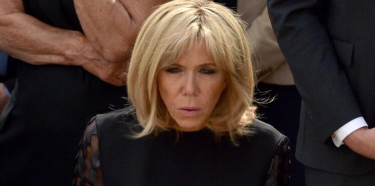 PHOTOS - Brigitte Macron habillée de noir : une femme en deuil lors des obsèques de Simone Veil