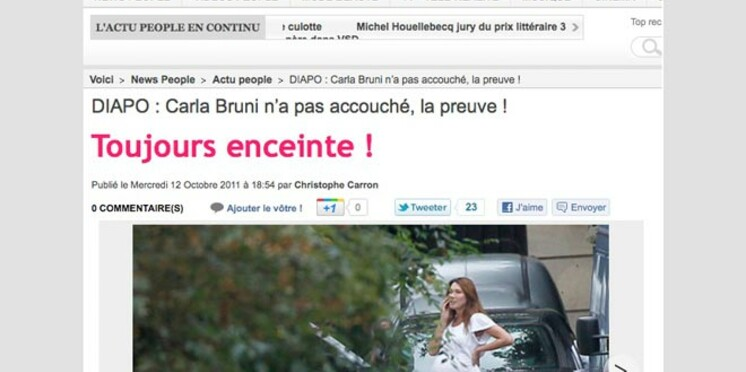 A la voir, cette fois c'est sûr, Carla Bruni n'a pas accouché