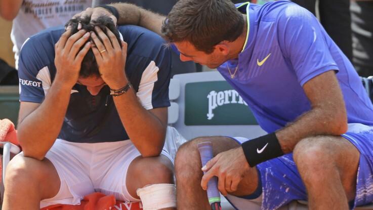 Del Potro réconforte Almagro, blessé : sûrement la plus belle image de Roland Garros 2017