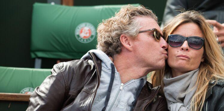 Photos - Denis Brogniart et sa femme Hortense à Roland-Garros