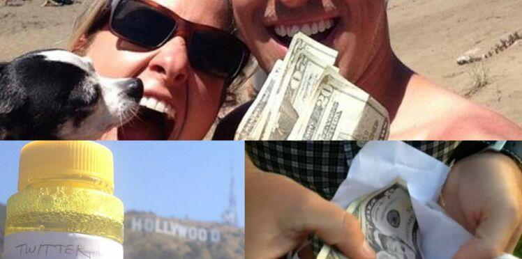 Des billets de 100 dollars cachés dans Paris