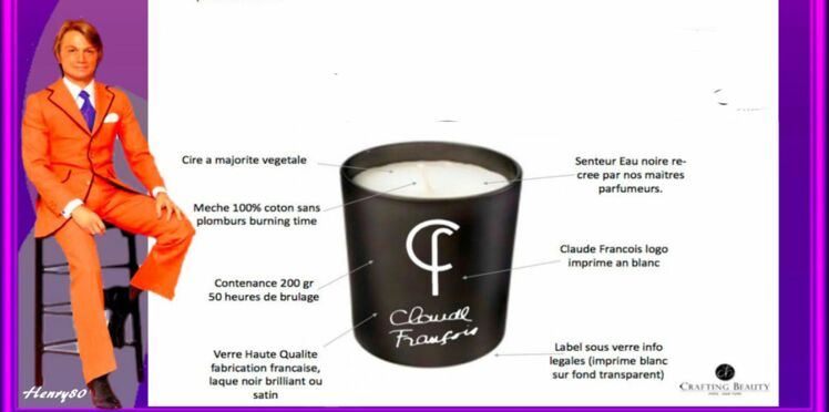 Eau noire, le parfum créé par Claude François renaît en bougie