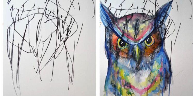 [Vidéo] Elle transforme les gribouillages de sa fille en œuvres d'art