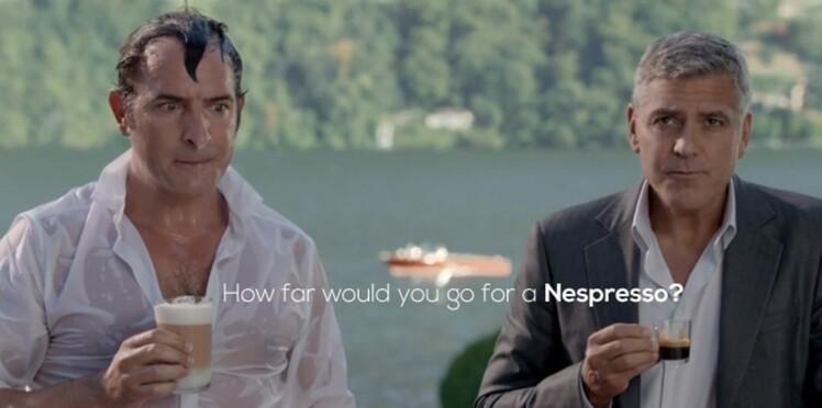 George Clooney et Jean Dujardin s'échangent la réplique pour Nespresso