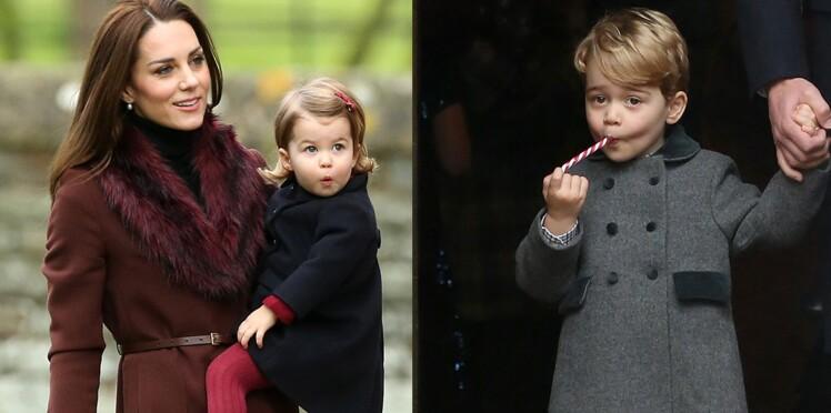 PHOTOS - George et Charlotte stars de la messe de Noël