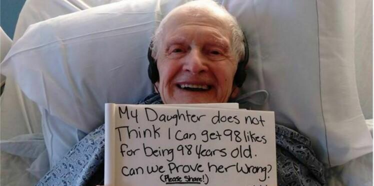 Un grand-père de 98 ans, malade, devient une star des réseaux sociaux