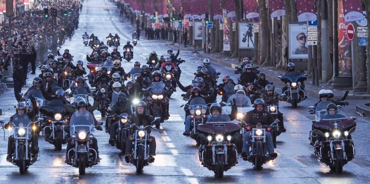 Hommage de Johnny Hallyday : découvrez quelle célébrité s'est glissée dans le cortège de motards