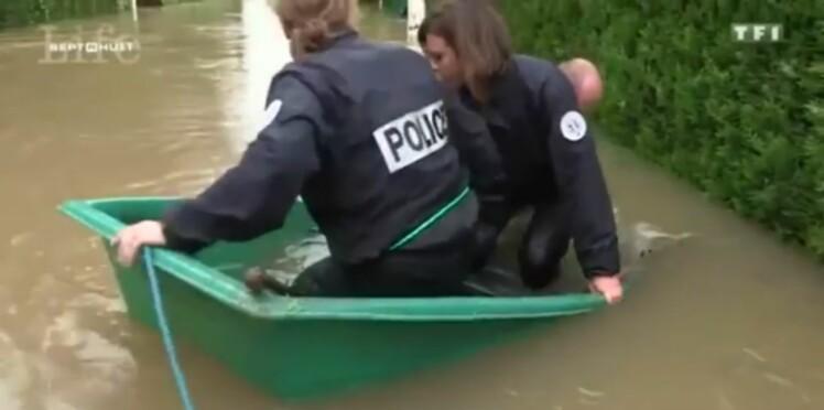 Inondations : trois policiers se mouillent vraiment pour secourir les sinistrés