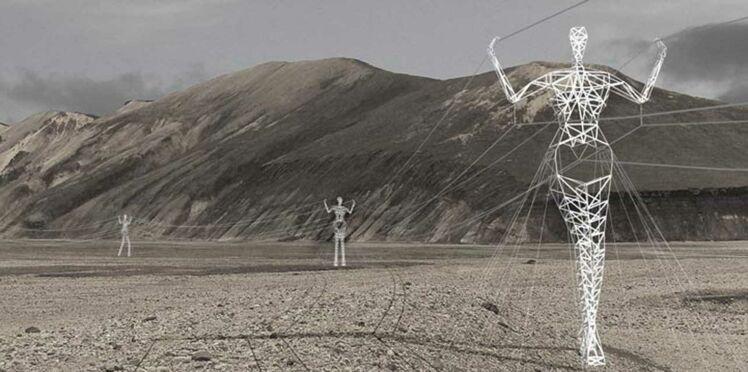 Incroyable : des pylônes électriques géants à forme humaine