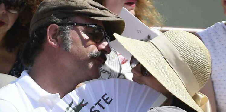 Photos - Jean Dujardin et Nathalie Péchalat : amoureux comme des ados à Roland Garros