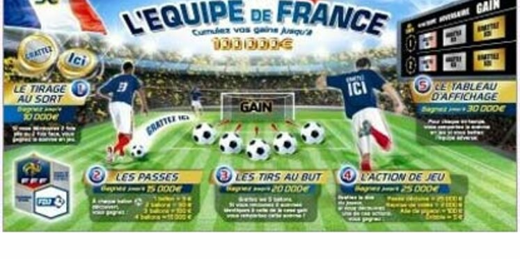 Un nouveau jeu de grattage dédié à l'Equipe de France de football
