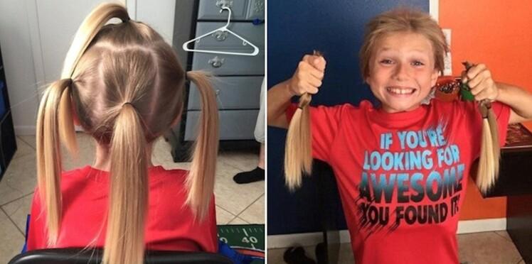A 8 ans, il laisse pousser ses cheveux pour aider les enfants victimes de cancer