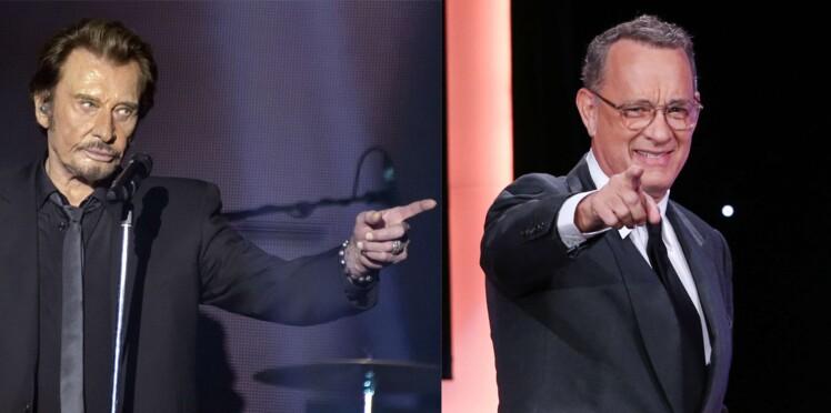 """Mort de Johnny Hallyday : l'improbable témoignage de Tom Hanks, totalement """"fasciné"""" par le Taulier"""