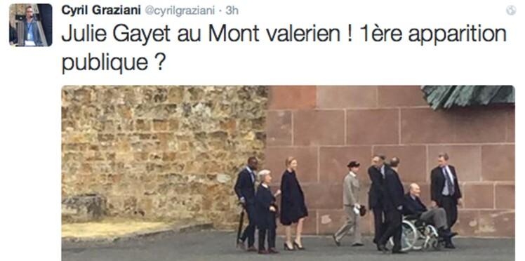 Première apparition de Julie Gayet lors d'un déplacement officiel de François Hollande