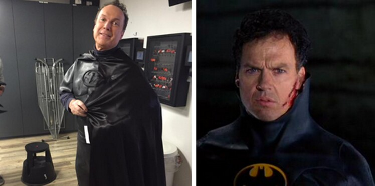 Julien Lepers en batman : plus que jamais sosie de Michael Keaton