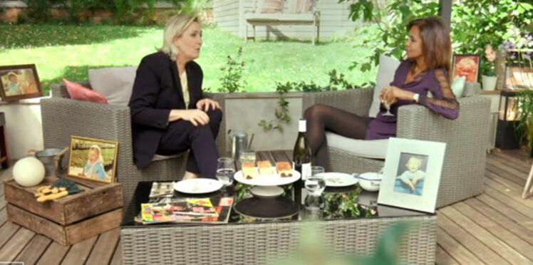Que fait Karine Le Marchand dans un tract du Front National ?