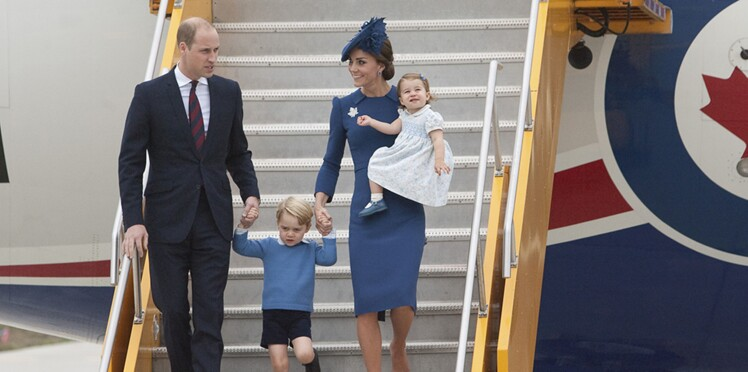 Photos : Kate Middleton, le prince William, Charlotte et George débarquent au Canada