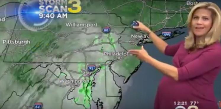 Une présentatrice météo critiquée pour être enceinte