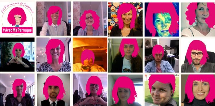 #AvecMaPerruque: une perruque rose pour une jolie cause