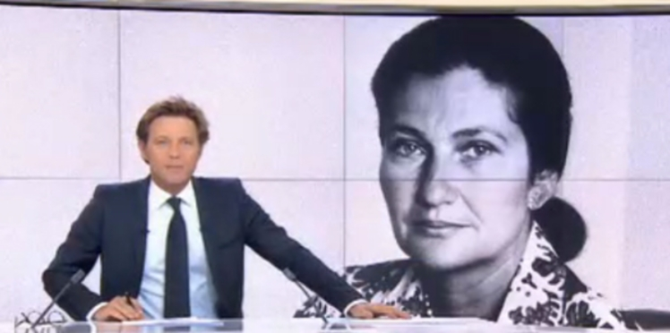 VIDEO - « Madame vous étiez belle ! » : l'hommage de Laurent Delahousse à Simone Veil