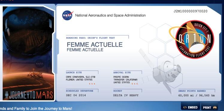 Femme actuelle s'envole pour la planète Mars!