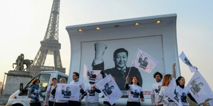 Le comité d'accueil de RSF au Président chinois, Xi Jinping