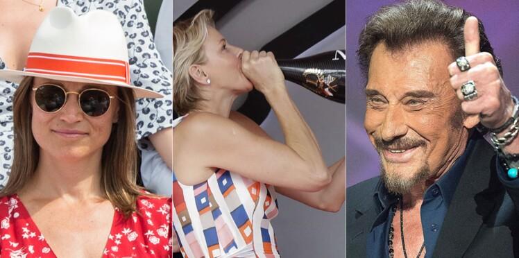 Pippa Middleton enceinte à Roland-Garros, Charlène de Monaco se lâche, une comédie musicale sur Johnny... Le meilleur et le pire de la semaine