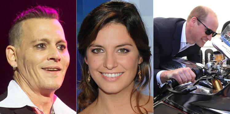Johnny Depp amaigri, Laëtitia Milot dévoile une vidéo de sa grossesse, le prince William s'éclate à moto... Le meilleur et le pire de la semaine