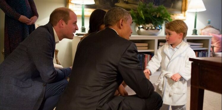 Photos: Quand le prince George reçoit Barack Obama en pyjama!
