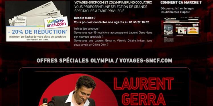 Les spectacles de l'Olympia à tarif réduit sur Voyages-sncf.com