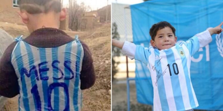 Photos : Lionel Messi réalise le rêve de l'enfant au maillot en sac plastique