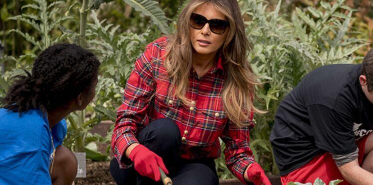 Photos - Melania Trump cultive le potager de la Maison Blanche, la First Lady aurait-elle la main verte ?