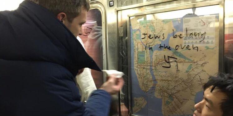 Comment des usagers se sont unis pour effacer des croix gammées dans le métro new-yorkais
