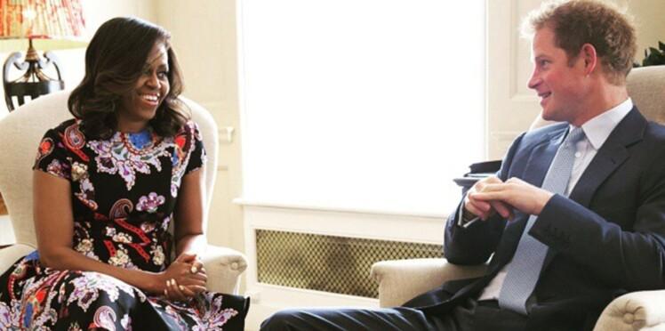 Michelle Obama et le prince Harry prennent le thé