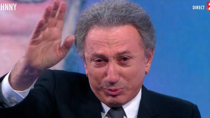 Vidéo - Mort de Johnny Hallyday : les larmes de Michel Drucker