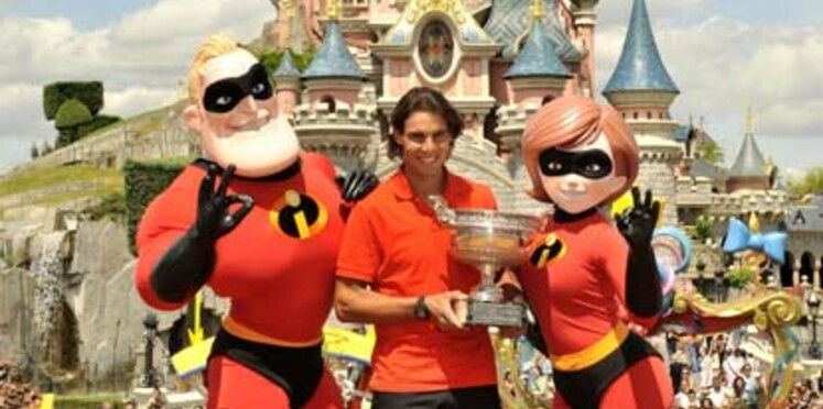 Rafael Nadal décompresse à Disneyland Paris