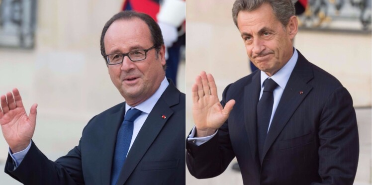Photos - Nicolas Sarkozy et François Hollande, complices au Parc des Princes