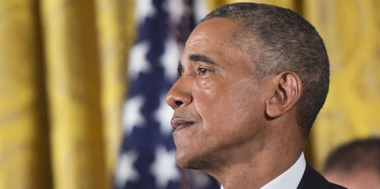 Les larmes de Barack Obama à l'évocation des victimes par armes à feu