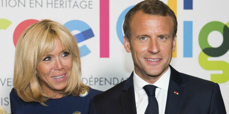 Photo - Brigitte et Emmanuel Macron : leur tendre moment de complicité à l'Élysée