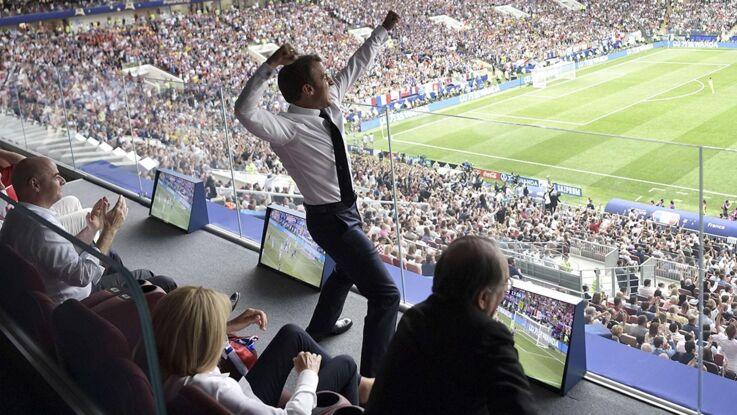 Photo - Emmanuel Macron, fou de joie devant la finale : les dessous du cliché qui a fait le tour du monde