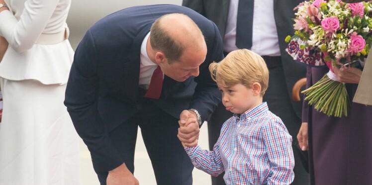 Photos - Le prince George qui boude et se fait gronder par William fait craquer la toile