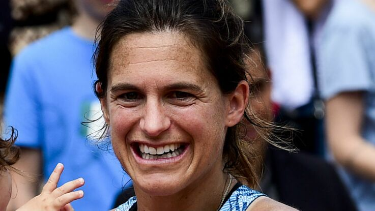 Photos - Amélie Mauresmo star de Roland-Garros entourée de ses enfants Aaron et Ayla