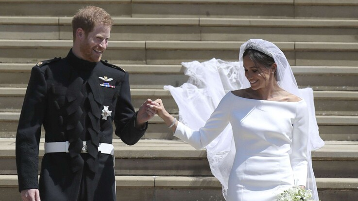 Photos - Première apparition de Meghan et Harry depuis leur mariage
