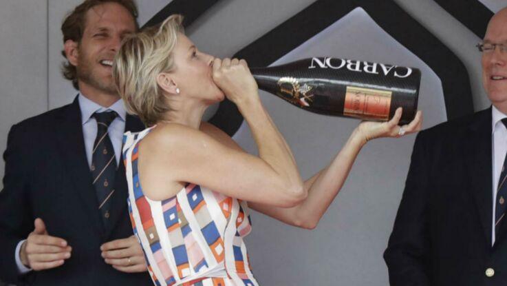 Photos - Charlène de Monaco se lâche sur le podium du Grand Prix de Monaco