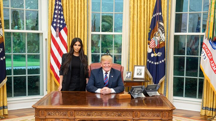 Photos - Pourquoi Donald Trump a reçu la visite de Kim Kardashian à la Maison Blanche