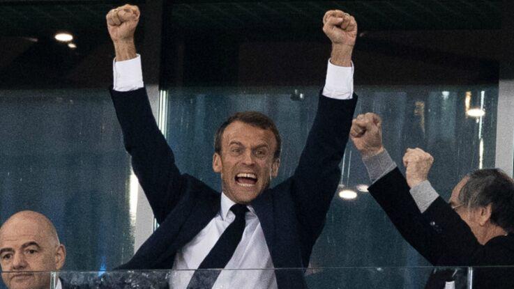 Photos - Mondial 2018 : Emmanuel Macron fou de joie en Russie devant les Bleus en finale