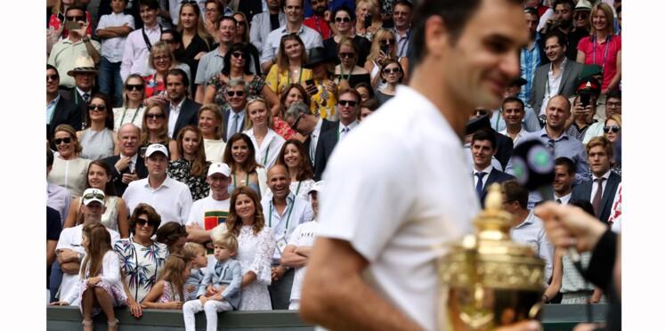 Photos - Les jumeaux de Roger Federer au premier rang pour fêter sa victoire