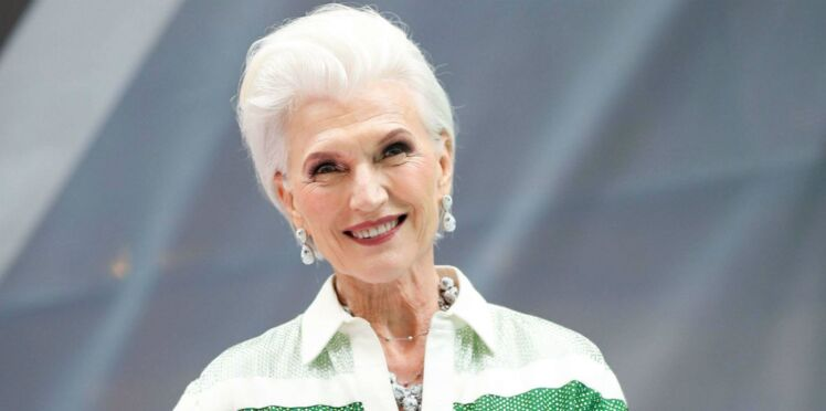 Photos - Maye Musk, 69 ans, consacrée star des podiums à la fashion week de New York